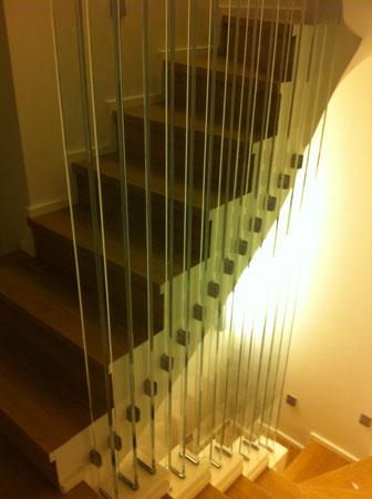 Διαχωριστικά σκάλας 20χιλ.extra clear