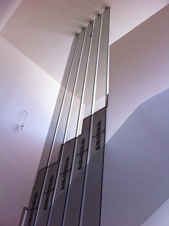 Διαχωριστικά σκάλας τρίπλεξ μπρονζέ